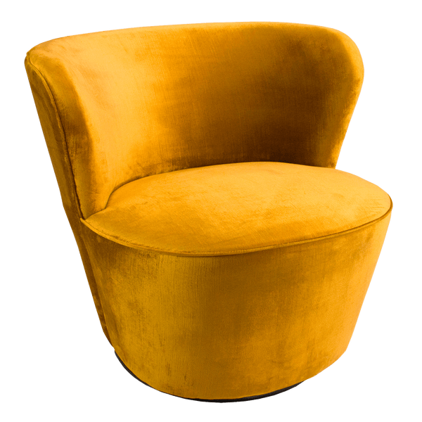 Coco Swivel Chair - Marigold Velvet | Darcy & Duke, Perth WA