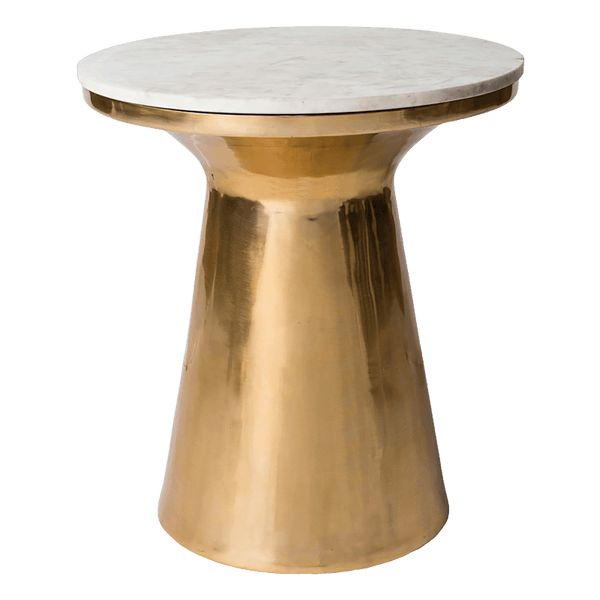 Round brass and marble table top side table | Coffee tables, Perth WA