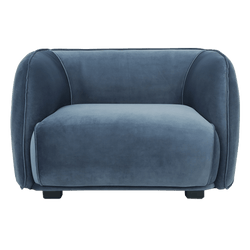 Dusty blue plush velvet snuggle chair | Luxury sofa, arm & occasional chairs, Perth WA
