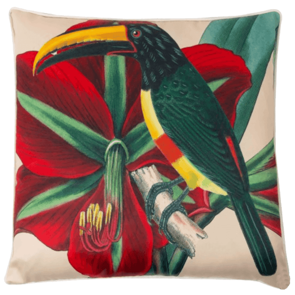 Toucan & frangipani cushion | Creatively Active Minds - Perth WA