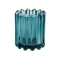 Blue ribbed title tealight candle holder | Candle Accessories, Perth WA