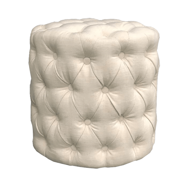 Off white/nude stool / ottoman with tufted button detailing | Ottomans and Stools, Perth WA