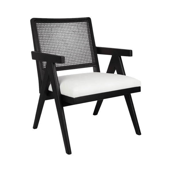 Aubrey Arm Chair - Black/White