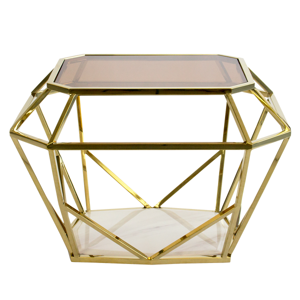 Asscher Gold Side Table