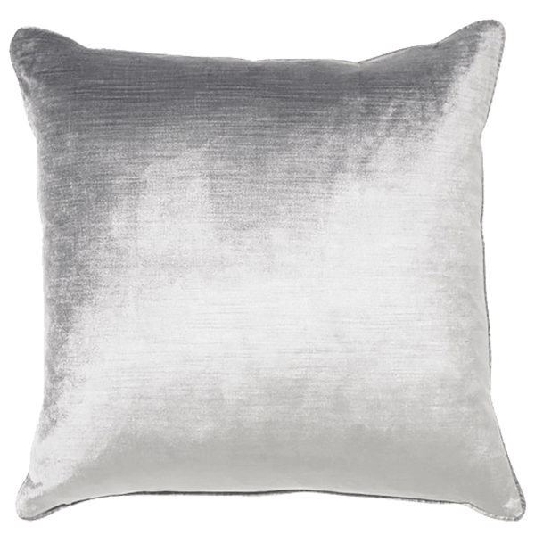 Rapee Roma Square Cushion Grey / Silver | Velvet cushions, luxury cushions, luxury homeware - Perth, WA