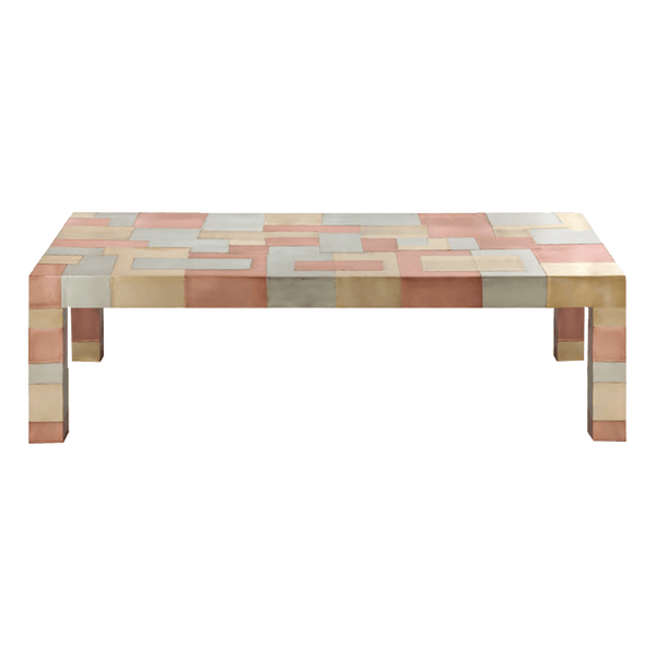 Anatole checkered coffee table - gold, brass & silver | Luxury coffee & side tables, Perth WA