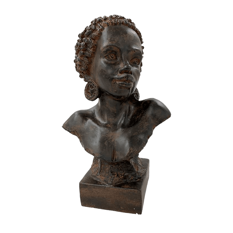 African woman bust in black antique finish | Decorative Home Accessories - Perth WA