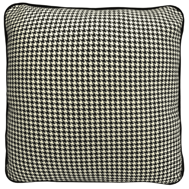 Houndstooth Piped Cushion 55x55cm | Darcy & Duke Perth WA