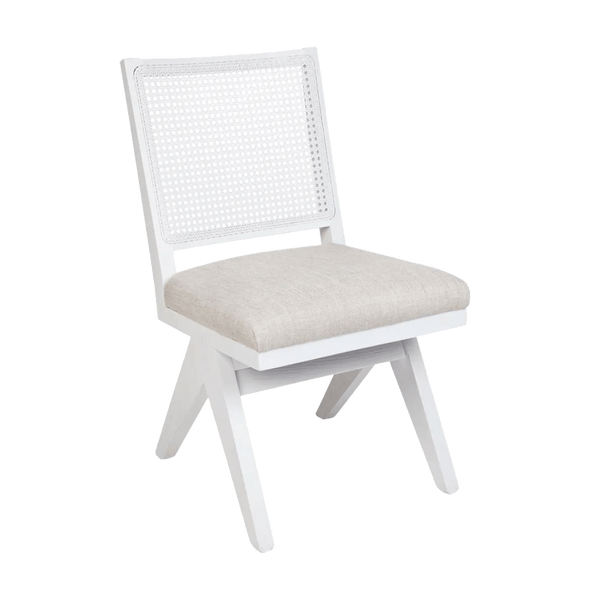 Aubrey Chair - White/White