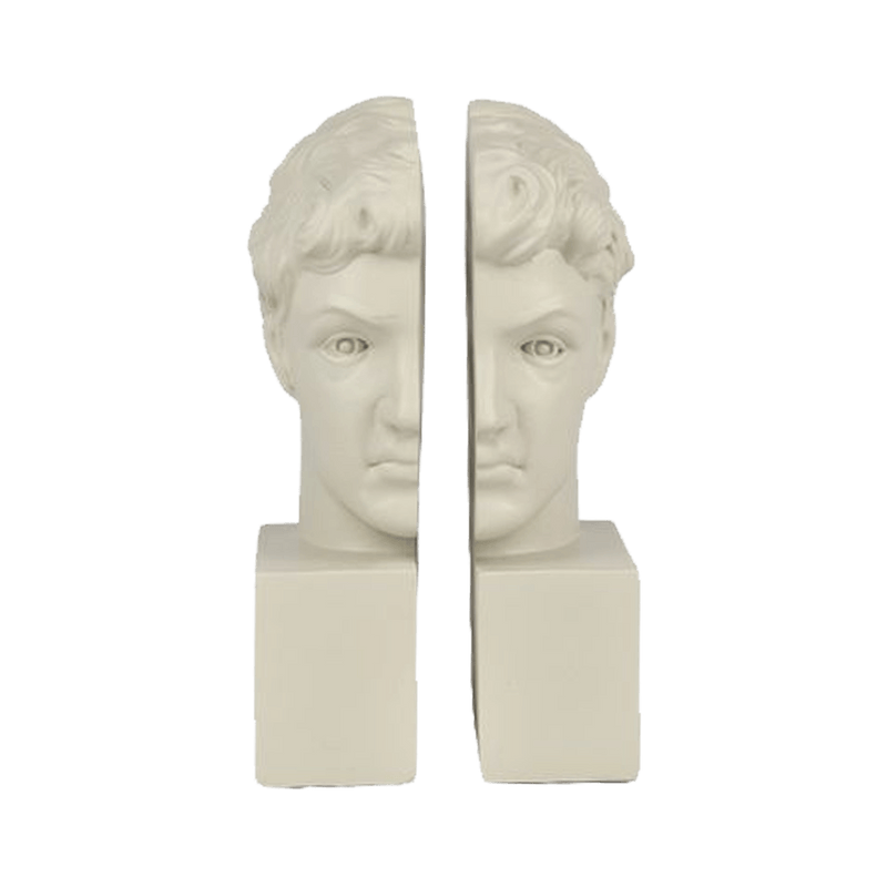 Roman style bust book ends | Decorative home accessories - Perth WA
