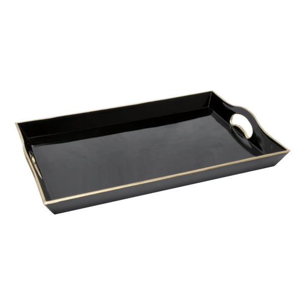 Black serving tray with gold edging | Serving & drinks tray - Perth WA