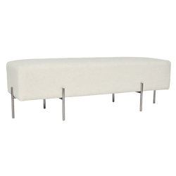 Coco quilted ottoman - textured pearl | Darcy & Duke, Perth WA