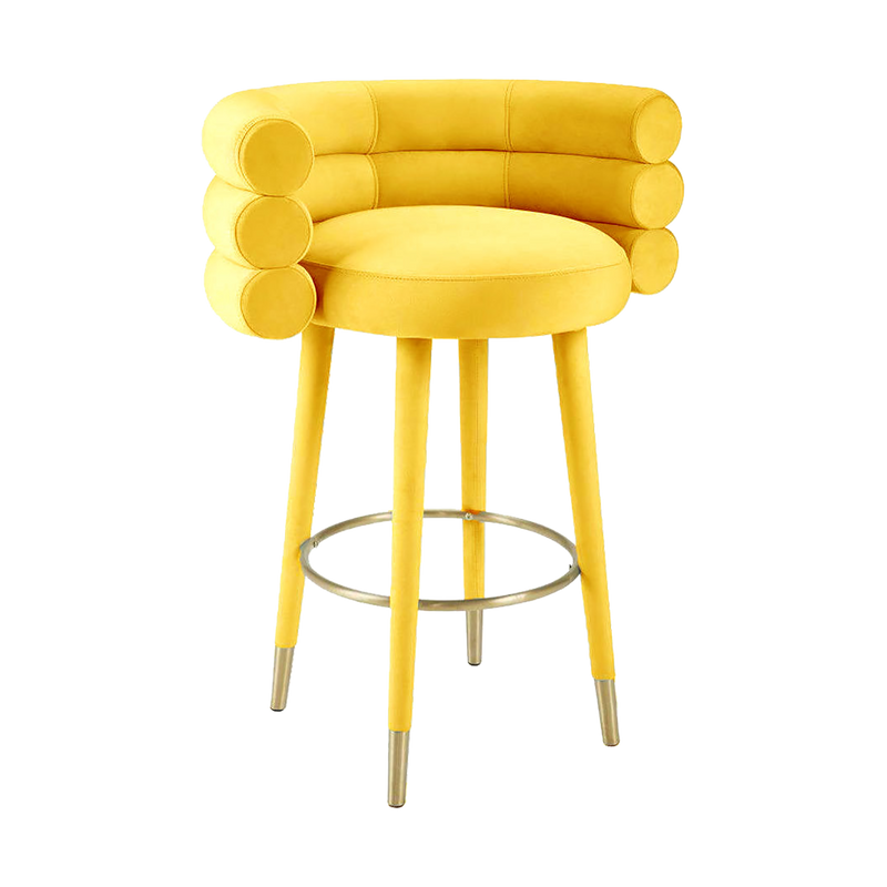Yellow velvet bar stool | Luxury furniture and seating Perth WA