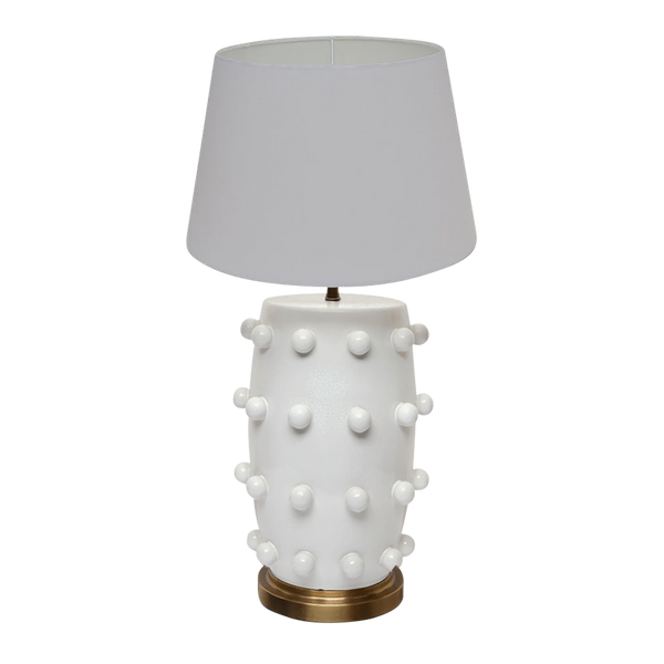 White lamp with white lampshade | Unique table lamps Perth WA