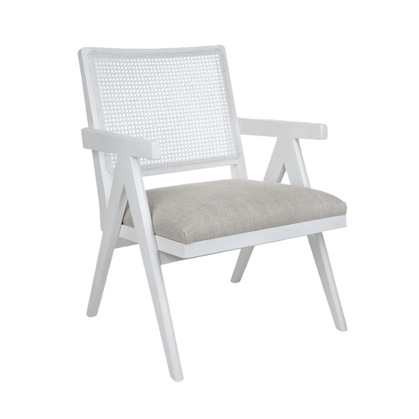 Aubrey Arm Chair - White/Natural