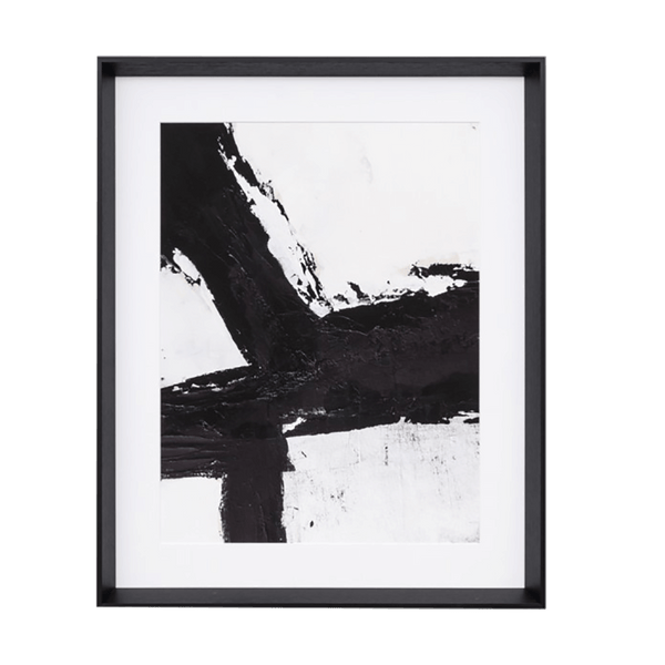 Black and white abstract art piece. Framed & ready to hang | Artwork and canvasses - Perth WA
