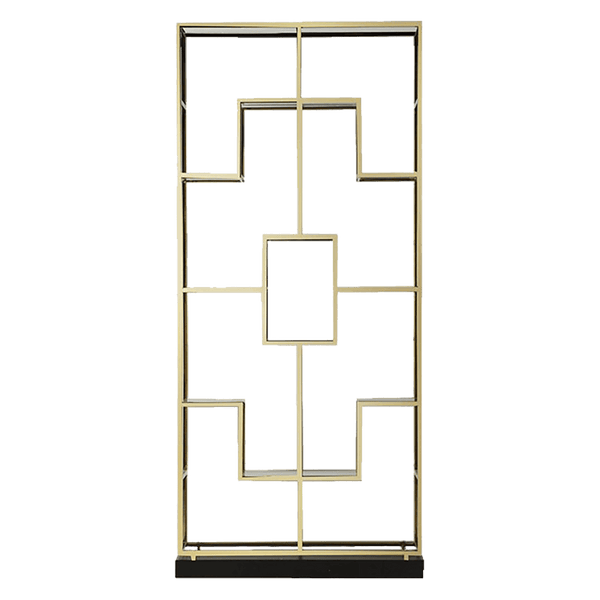 Gold art deco inspired display unit | Luxury living room furniture - Perth WA