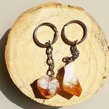 Load image into Gallery viewer, RAW CITRINE KEYRING