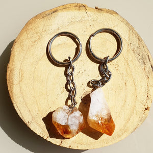 RAW CITRINE KEYRING