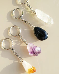 RAW AMETHYST KEYRINGS