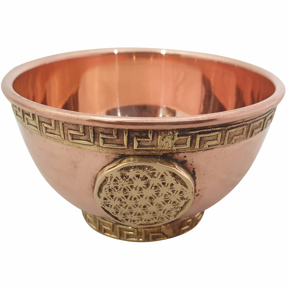 Offering Bowl in Flower of Life Copper