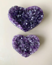 Load image into Gallery viewer, Amethyst Cluster Heart 8.5cm