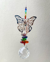 Load image into Gallery viewer, Butterfly 🦋 Crystal Sun Catcher