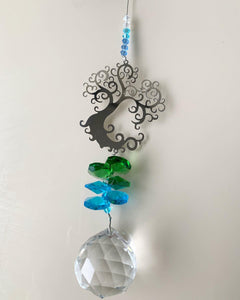 Tree of Life Crystal Sun Catcher