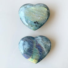 Load image into Gallery viewer, Labradorite Puffy Heart 💕 - A