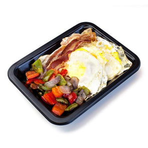 Fried Eggs, Bacon & Bell Pepper Hash | Icon Meals