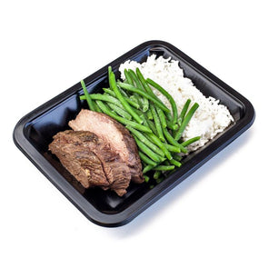 Beef Medallions, Rice, & Green Beans | Icon Meals
