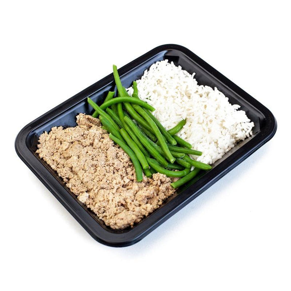 Lean Ground Turkey, Rice, & Green Beans
