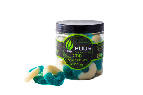 Image of CBD Gummies Blue rings