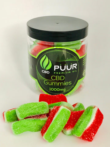 CBD Sour Watermelon Gummies- 1000mg