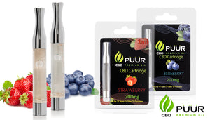 2 Pack CBD 200mg PreFilled Cartridge -Strawberry & Blueberry