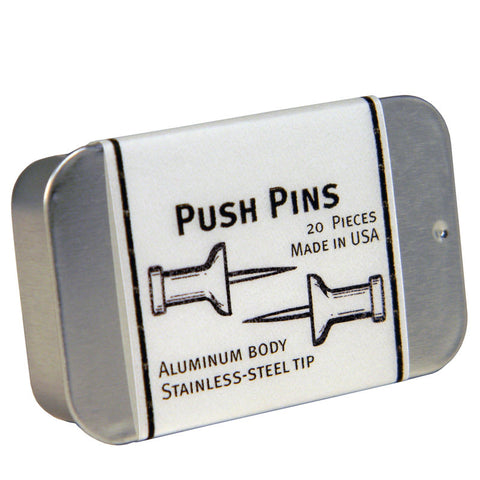 Aluminum Pushpins - Box of 20