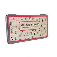 Load image into Gallery viewer, Cavallini vintage alphabet rubber stamps set