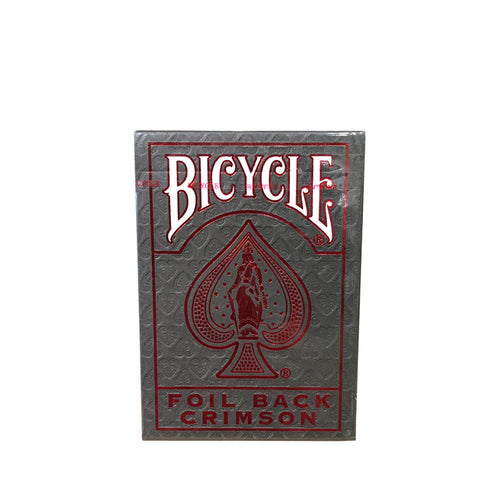 Bicycle Foil Back Playing Cards Red