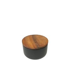 Load image into Gallery viewer, Stoneware Container with Acacia Wood Lid - Small