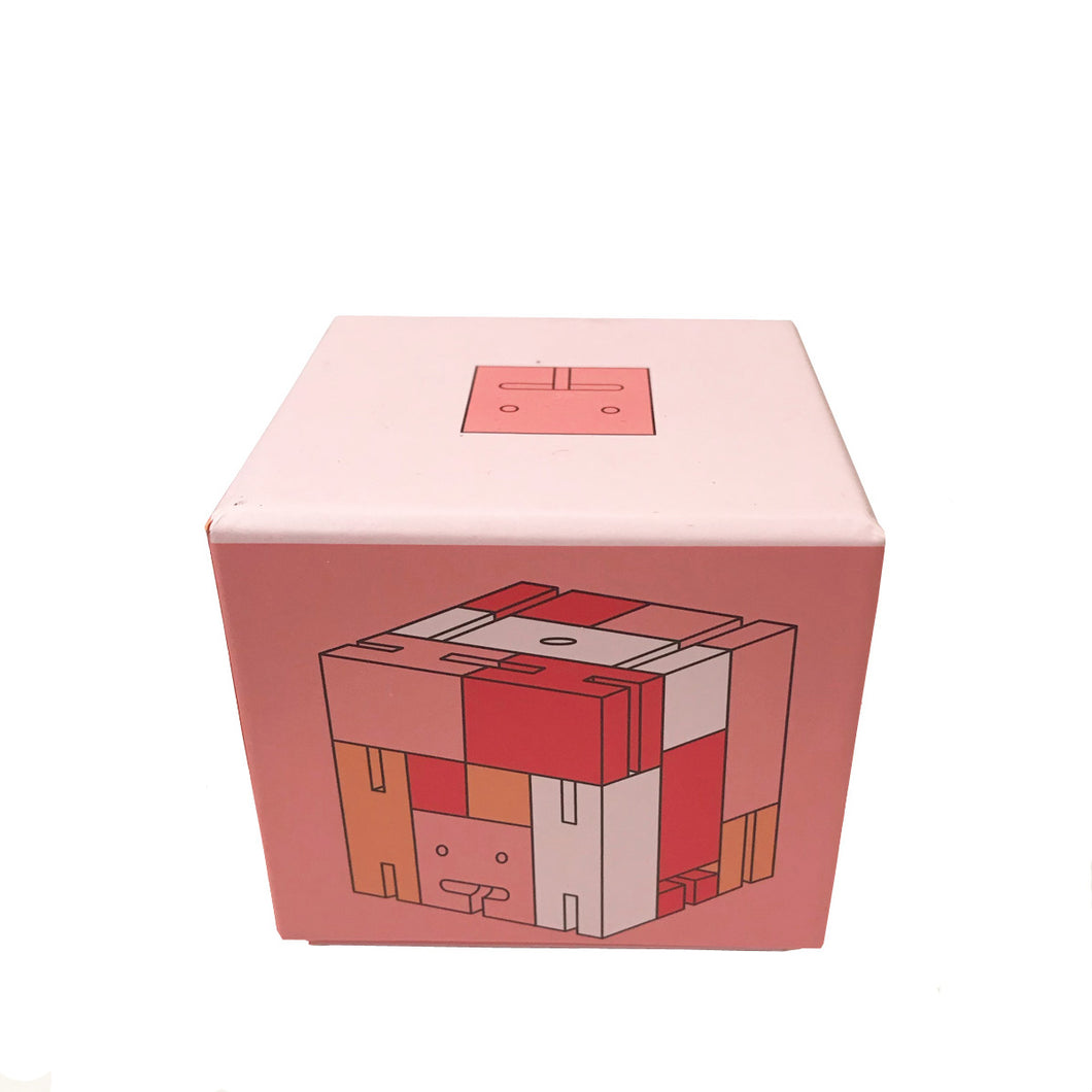 Multicolor Cubebot Cube bot Medium Pink