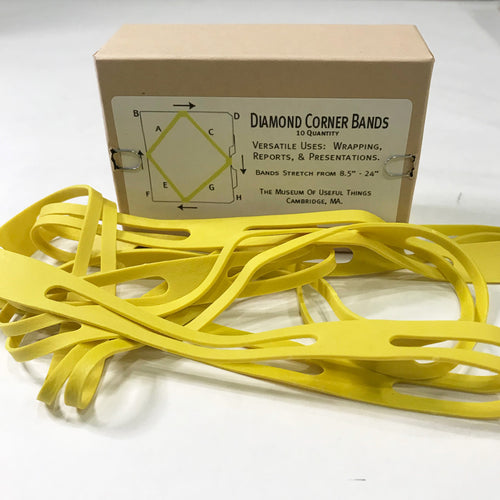 Black Ink Diamond Corner Bands Box of 10