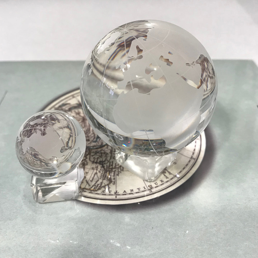 Glass Globe with Stand - Small