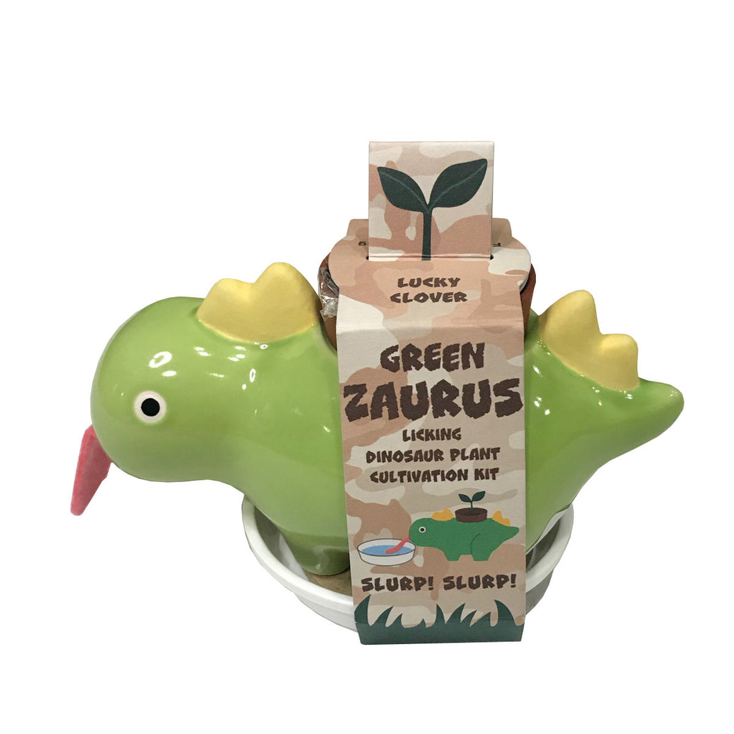 Green Zaurus Dinosaur Plant Cultivation Kit - Lucky Clover