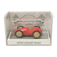 Load image into Gallery viewer, Mini Wooden Finger Racer Red