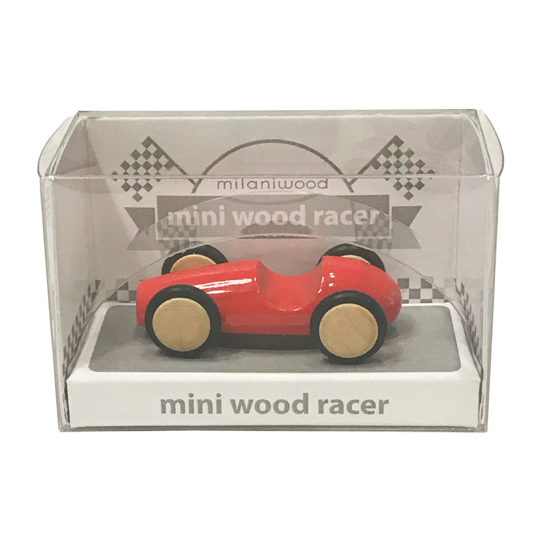 Mini Wooden Finger Racer Red