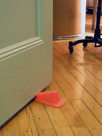 Giant Foot Doorstop - Orange