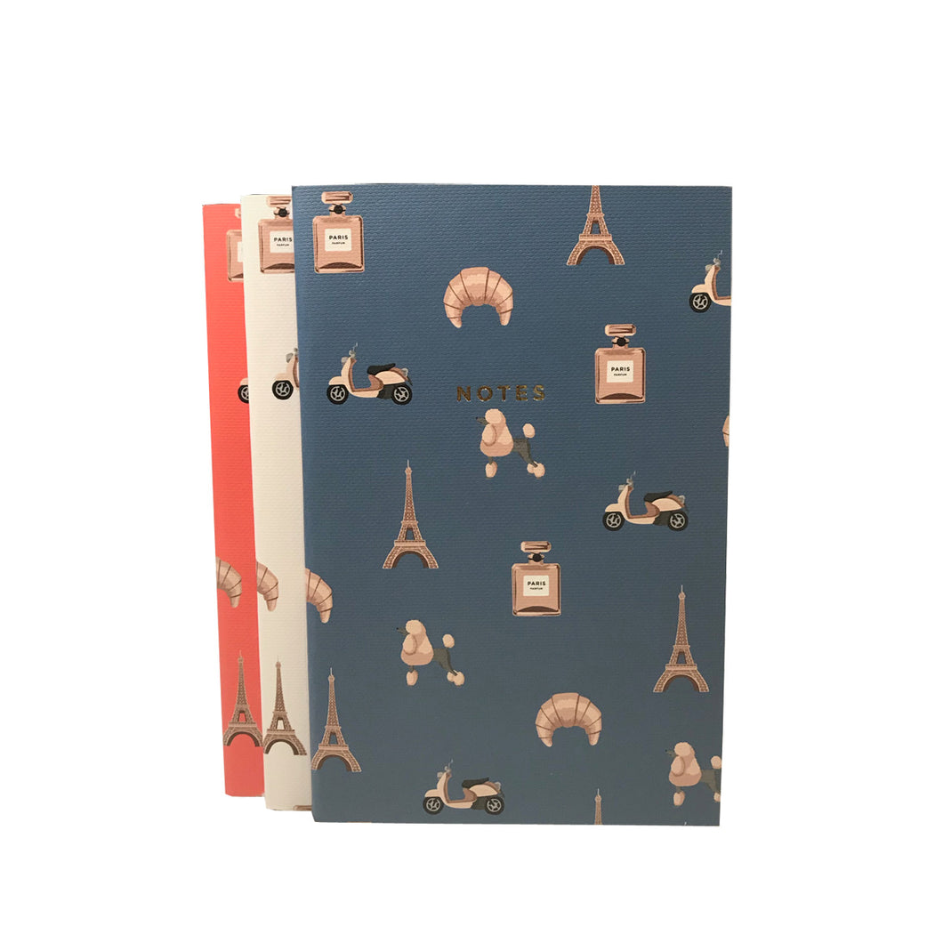 Paris Notebooks Pack of Three