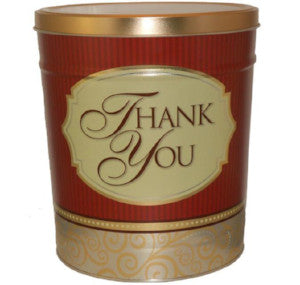 Popcorn Tin 3.5 Gallon Thank You - Butter, Caramel, Cheese