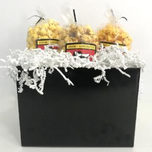 Black All Occasion Popcorn Gift Basket