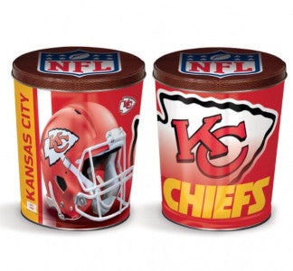 Kansas City Chiefs Popcorn Tin Cannister